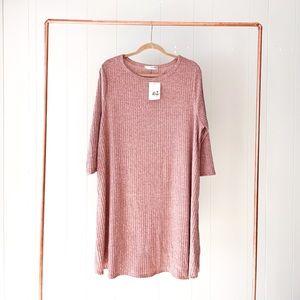 NWT Blush Ribbed Casual Dress